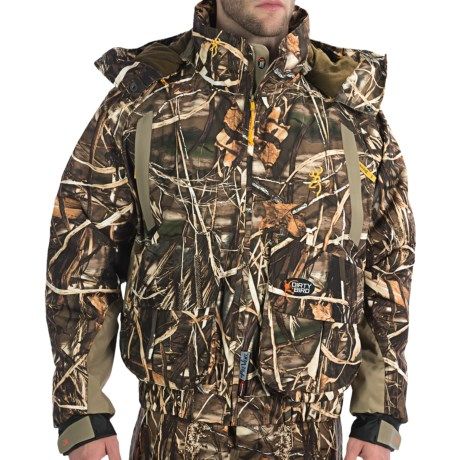 Browning Dirty Bird Wader Jacket - Waterproof, Insulated (For Men) in Realtree Max-4