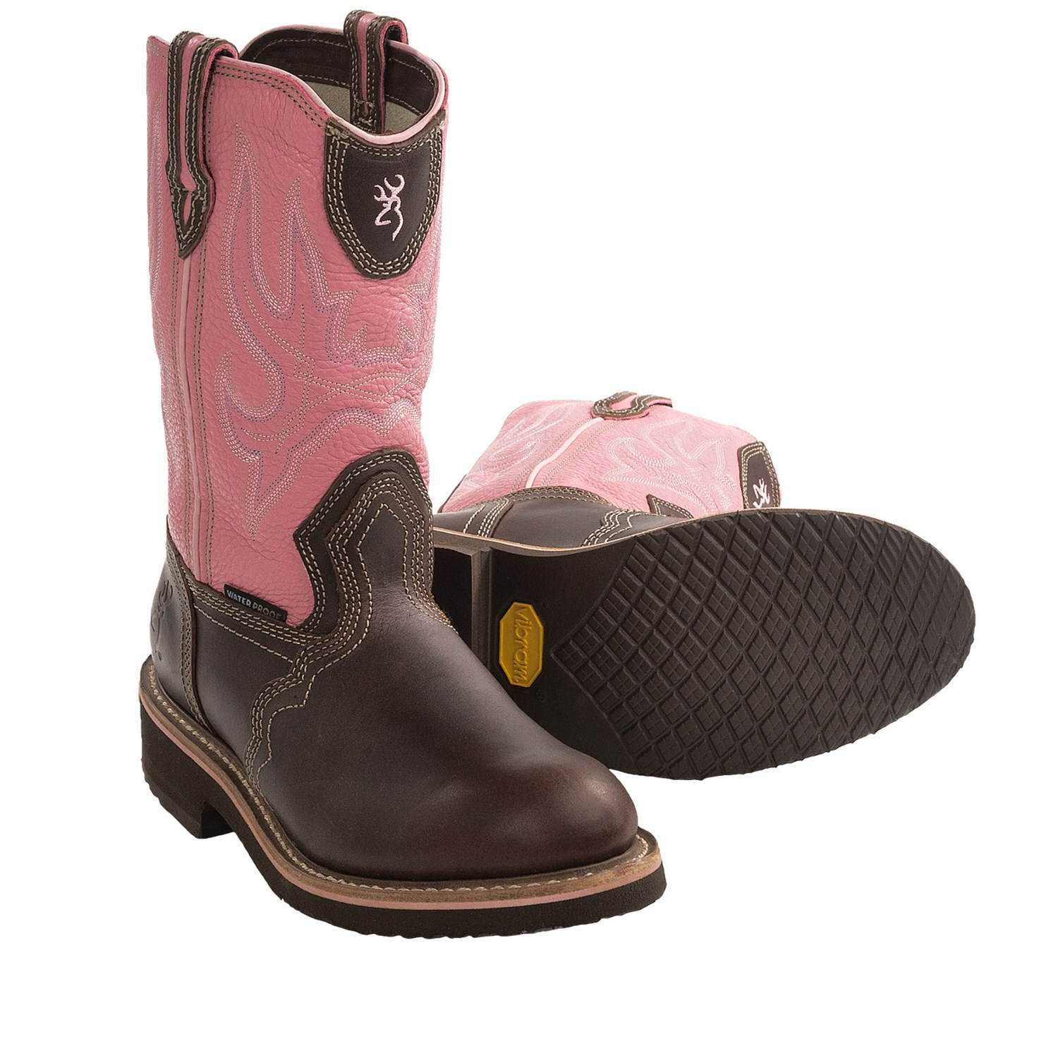 browning fancy stitch wellington boots waterproof for