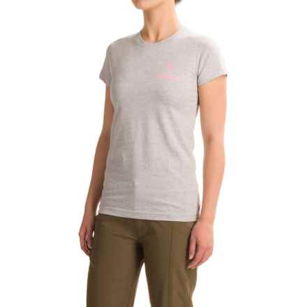 Browning Fitted Buckmark T-Shirt - Short Sleeve (For Women) in Brown Ombre Buckmark/Heather/Multi - Closeouts