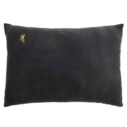 Browning Fleece Pillow in Black/Gold Buckmark - Closeouts