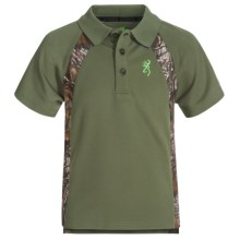Browning Flintlock Polo Shirt - Short Sleeve (For Little and Big Boys) in Clover - Closeouts