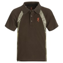 Browning Flintlock Polo Shirt - Short Sleeve (For Little and Big Boys) in Timber - Closeouts
