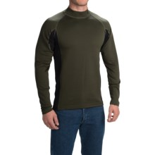 Browning Full Curl Wool Base Layer Top - Mock Neck, Long Sleeve (For Men) in Loden - Closeouts