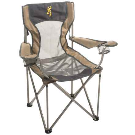 Browning Grizzly Portable Chair in Khaki/Coal - Closeouts