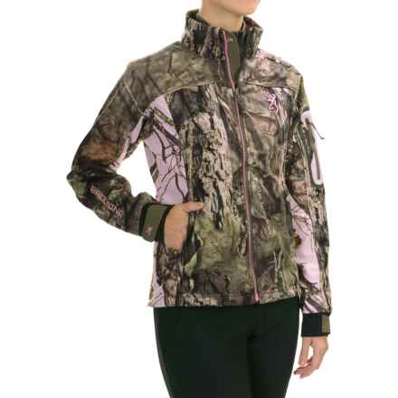 Browning Hells Belles Jacket - Soft Shell (For Women) in Mossy Oak Break-Up Country - Closeouts