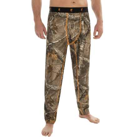 Browning Hell's Canyon Base Layer Bottoms - Midweight (For Big Men) in Realtree Xtra - Closeouts