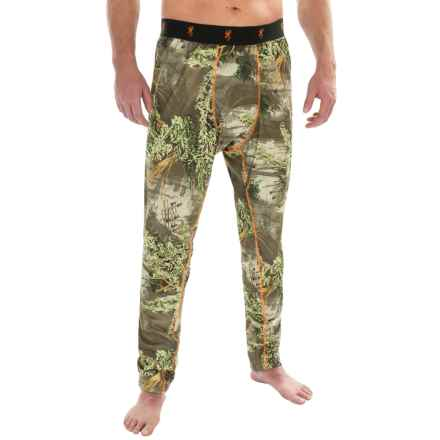 Browning Hell's Canyon Base Layer Pants - Midweight (For Big Men) in Realtree Max 1 - Closeouts