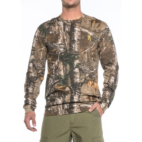 Browning Hell's Canyon Basics T-Shirt - Long Sleeve (For Men) in Realtree Xtra