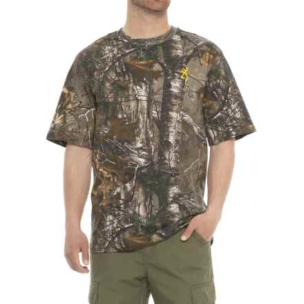Browning Hell's Canyon Basics T-Shirt - Short Sleeve (For Men) in Realtree Xtra - Closeouts