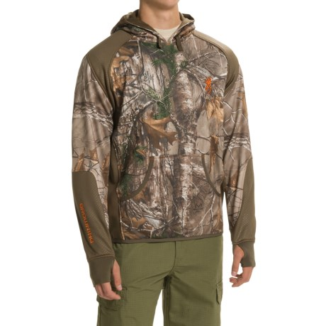 Browning Hell's Canyon High-Performance Fleece Hoodie (For Men) in Realtree Xtra