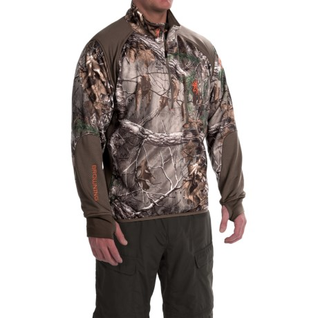 Browning Hell's Canyon High-Performance Fleece Jacket – Zip Neck (For Big Men)