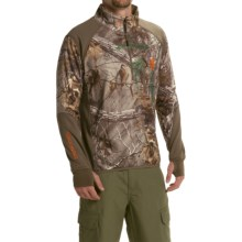 Browning Hell's Canyon High-Performance Fleece Jacket - Zip Neck (For Men) in Realtree Xtra - Closeouts