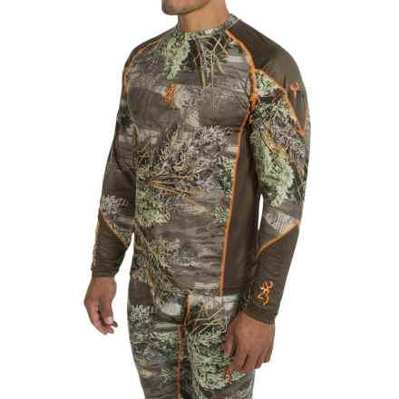 Browning Hell's Canyon Lightweight Base Layer Top - Long Sleeve (For Big Men) in Realtree Max 1 - Closeouts