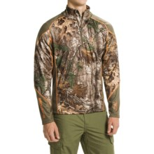 Browning Hell's Canyon Midweight Base Layer Top - Zip Neck, Long Sleeve (For Big Men) in Realtree Xtra - Closeouts