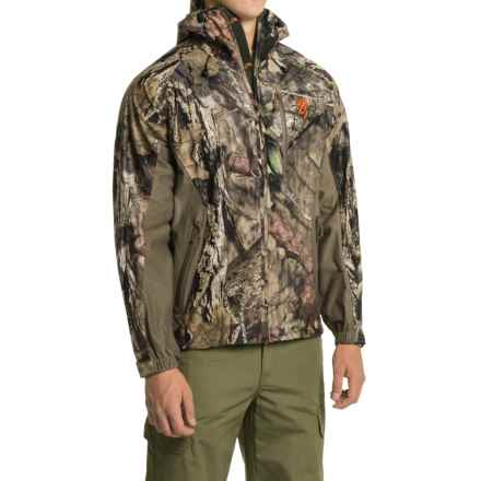 Browning Hell's Canyon Packable Rain Jacket (For Men) in Mossy Oak Break-Up Country - Closeouts
