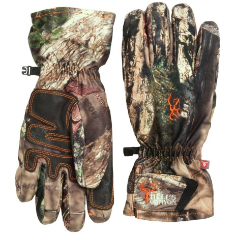 Browning Hell's Canyon PrimaLoft® Pre-Vent Gloves - Waterproof, Insulated (For Men) in Mossy Oak Break-Up Country