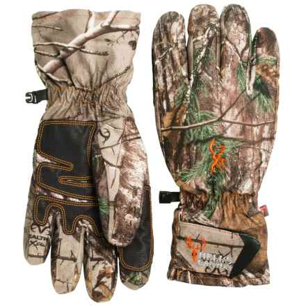 Browning Hell's Canyon PrimaLoft® Pre-Vent Gloves - Waterproof, Insulated (For Men) in Realtree Xtra - Closeouts