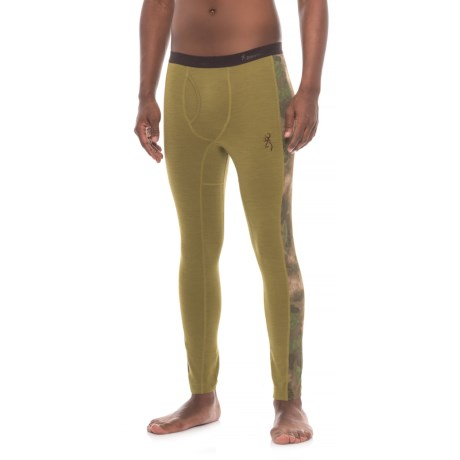 Browning Hells Canyon Speed MHS Base Layer Pants - Wool (For Men) in Foliage/Green