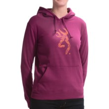 Browning Henna Buckmark Hoodie (For Women) in Magenta - Closeouts