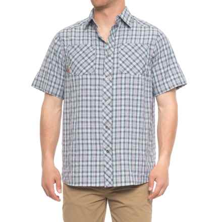 Browning Heritage Alden Shirt - Short Sleeve (For Men and Big Men) in Crown Blue - Closeouts