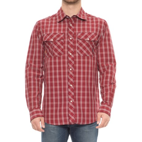 Browning Heritage Gunsight Shirt - Long Sleeve (For Men) in Chili Pepper