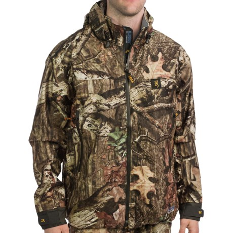 Browning Illusion HMX Soft Shell Jacket- Waterproof (For Big and Tall Men) in Mossy Oak Break-Up Infinity