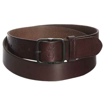 Browning Kamas Leather Belt (For Women) in Brown - Closeouts