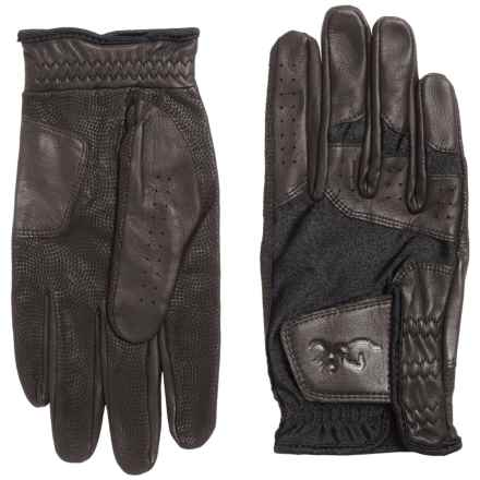 Browning Leather Dura-Lite Shooting Gloves (For Men) in Black - Closeouts