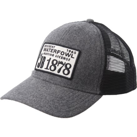 fd6a74835b7383 Browning License Trucker Hat (For Men) in Heather - Closeouts