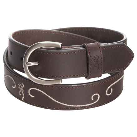 Browning Loa Belt (For Women) in Taupe/Bracken - Closeouts
