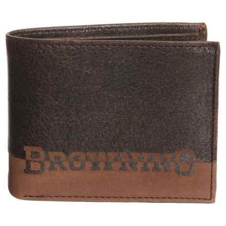 Browning Nomad Bi-Fold Wallet (For Men) in Nappa Black - Closeouts