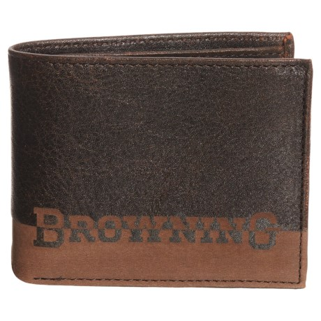Browning Nomad Bi-Fold Wallet (For Men) in Nappa Black