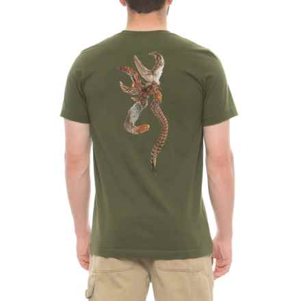 Browning Pheasant Buckmark Graphic T-Shirt - Short Sleeve (For Men) in Olive - Closeouts
