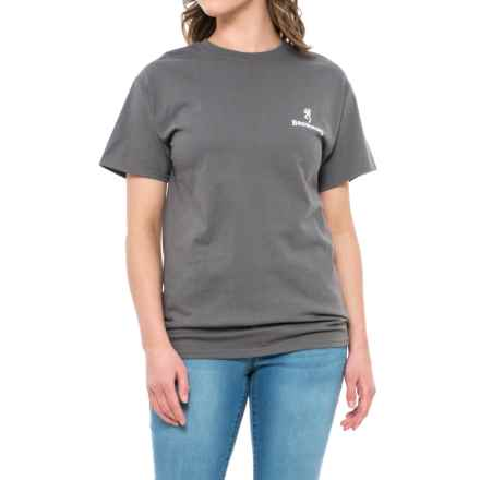 Browning Realtree® AP Mint Buckheart Graphic T-Shirt - Short Sleeve (For Women) in Charcoal/Realtree Ap Mint/White - Closeouts