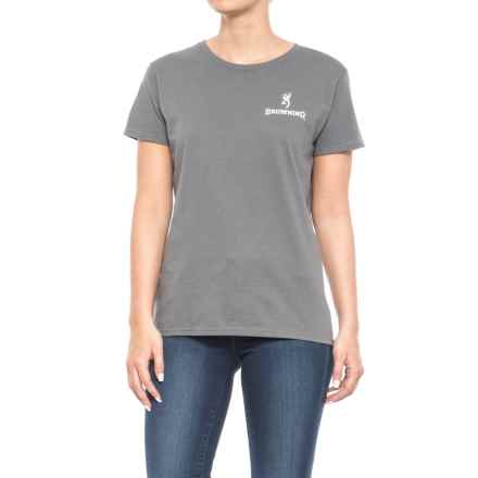 Browning Realtree Xtra® Buckheart Graphic T-Shirt - Short Sleeve (For Women) in Charcoal/Realtree Xtra/White - Closeouts