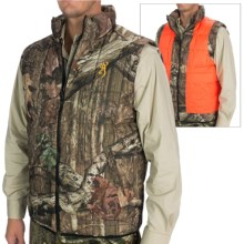 Browning Reversible Hunting Vest - Insulated (For Men) in Mossy Oak Infinity/Blaze Orange - Closeouts