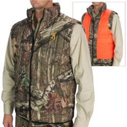 Browning Reversible Hunting Vest - Insulated (For Men) in Mossy Oak Infinity/Blaze Orange