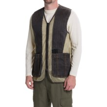 Browning Rhett Shooting Vest (For Big Men) in Charcoal/Tan - Closeouts