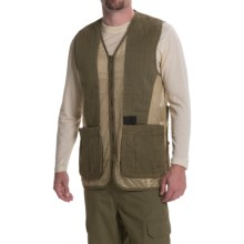 Browning Rhett Shooting Vest (For Big Men) in Olive/Tan - Closeouts