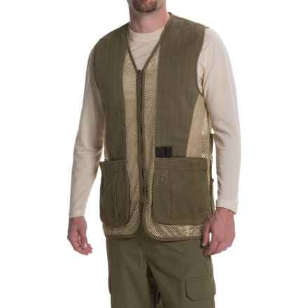 Browning Rhett Shooting Vest (For Men) in Olive/Tan - Closeouts