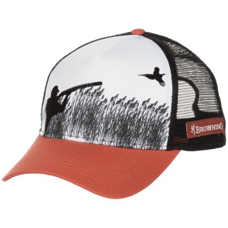 Browning Rooster Baseball Cap (For Men) in Rust