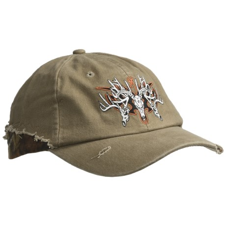 Browning Rugged Bucks Ball Cap (For Men and Women) in Khaki/Mossy Oak Infinity
