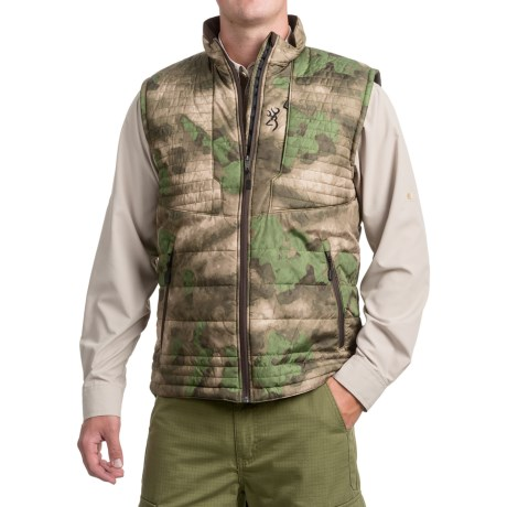 Browning Speed Shrike PrimaLoft® Vest - Insulated (For Men and Big Men) in Foliage/Green