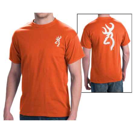 Browning SST Custom Buckmark T-Shirt - Short Sleeve (For Men) in Orange - Closeouts