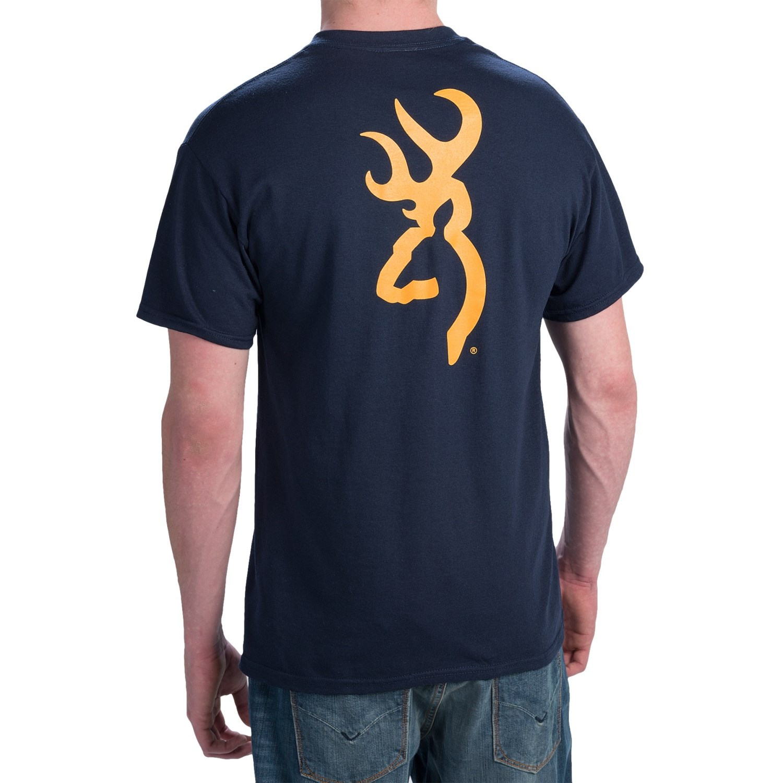 Browning Sst Custom Buckmark T Shirt For Men Save 61