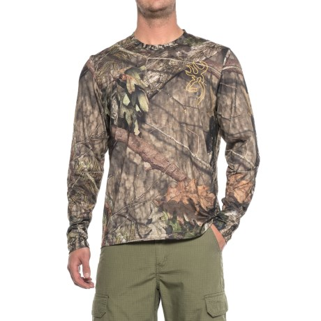 Browning Sunset T-Shirt - Long Sleeve (For Men) in Mossy Oak Break-Up Country