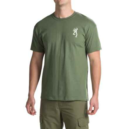 Browning Superior Quality T-Shirt - Crew Neck, Short Sleeve (For Men) in Military Green - Closeouts