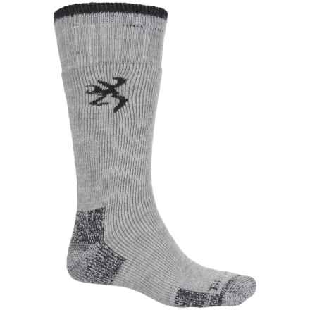 Browning Sycamore Hiking Socks - Wool Blend, Crew (For Men) in Gray/Black - Closeouts