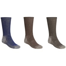 Browning Tipped Crew Socks - 3-Pack (For Men) in Navy Marl/Brown Marl/Black Marl - Closeouts