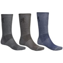 Browning Ultra Dri Socks - Crew, 3-Pack (For Men) in Navy/Brown/Black - Closeouts